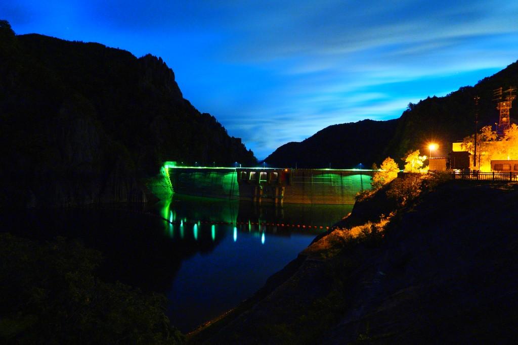 豊平峡ダム夜景)