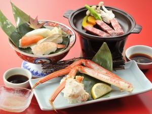 夕食 バイキング 寿司かにステーキ膳01