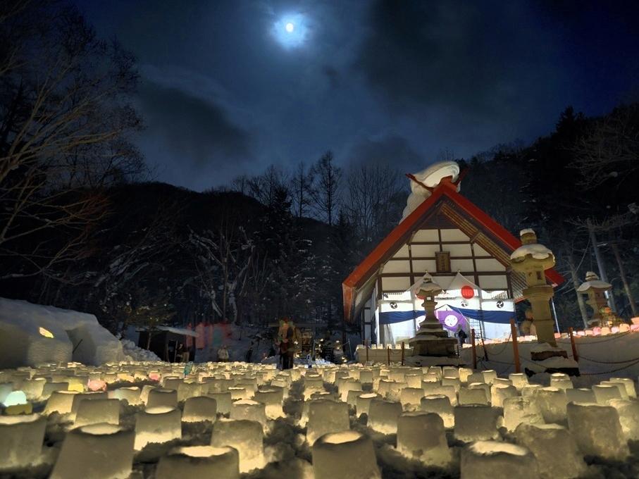 イベント 定山渓雪灯路01