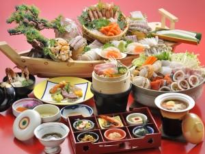 夕食 和食会席膳 海饗の宴01